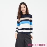 【RED HOUSE 蕾赫斯】寬版條紋針織上衣(共2色)