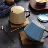 北歐咖啡杯創意早餐杯子陶瓷帶蓋勺辦公室情侶水杯馬克杯