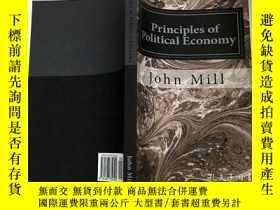 二手書博民逛書店英文原版罕見Principles of Political Economy - John Stuart Mill