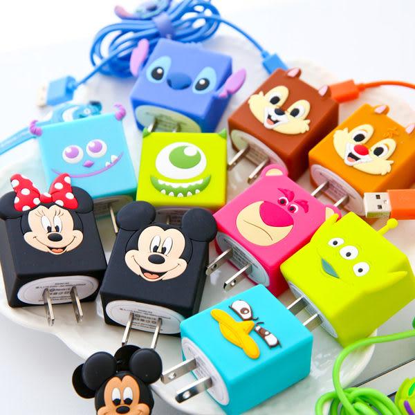 正版迪士尼USB充電器插頭 史迪奇 三眼怪 大眼仔 毛怪 奇奇 蒂蒂 米奇 米妮 熊抱哥 泰瑞鴨