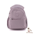 B.S.D.S冰山袋鼠 - 時光旅人 - 知性學院風防潑水後背包 - 淡紫色【B0019-PR】