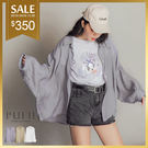 PUFII-上衣 光澤感透膚襯衫-0620 現+預 夏【CP16908】