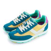 LIKA夢 PONY 繽紛韓風復古慢跑鞋 SOHO 繽紛靚麗系列 藍綠黃 54W1SO78YW 女 6折好康