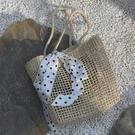 海邊度假草編包女士夏季沙灘鏤空手工編制時尚簡約韓版復古格蘭小舖