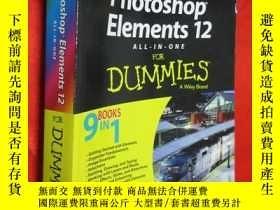 二手書博民逛書店Photoshop罕見Elements 12 All-In-On