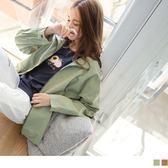 《EA2446-》高含棉背部造型拉鍊夾克外套 OB嚴選
