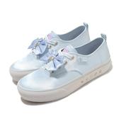 Skechers 休閒鞋 Bobs X Sailor Moon Marley 美少女戰士 藍 白 女鞋 緞帶 聯名款 帆布鞋【ACS】 66666268LTBL
