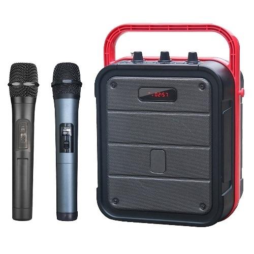 大聲公樂利型無線式多功能行動音箱/喇叭 (雙手持麥克風組)