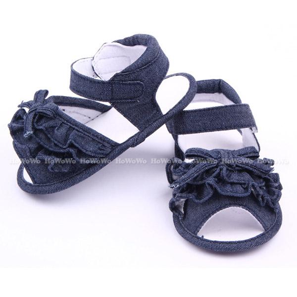 寶寶涼鞋 牛仔單寧 學步鞋 軟底防滑嬰兒鞋 (11-13cm) 嬰兒涼鞋 MIY1500