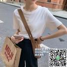 短袖T恤 打底百搭短袖素色圓領內搭韓版T恤女【小檸檬3C數碼館】