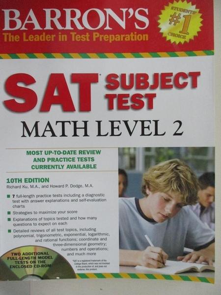 【書寶二手書T4/科學_I5I】Barron's Sat Subject Test Math Level 2_Ku, Richard/ Dodge, Howard