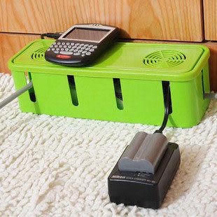 帶散熱孔電纜電線收納盒