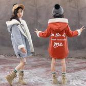女童風衣外套 秋冬2018新款加絨加厚風衣中長款外套女 BF12724『男神港灣』