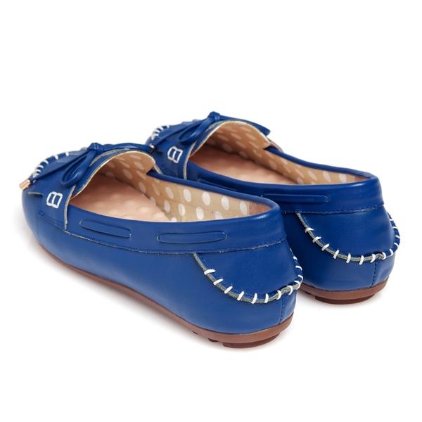G.Ms. 流蘇蝴蝶結羊皮莫卡辛豆豆鞋-藍莓派