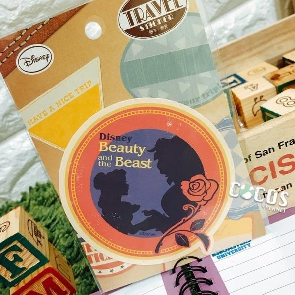 日本正版 迪士尼貼紙 美女與野獸 貝兒公主 裝飾貼紙 行李箱貼紙 耐水耐光材質 COCOS TK091