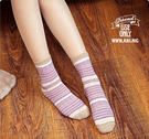 襪子   民族風條紋中筒襪  【FSW0...