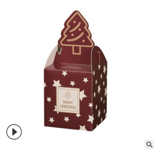 幾何聖誕禮品盒 耶誕節 聖誕蘋果盒 禮品包裝 餅乾盒【X027】包裝紙盒 蛋糕盒 薑餅盒 糖果盒