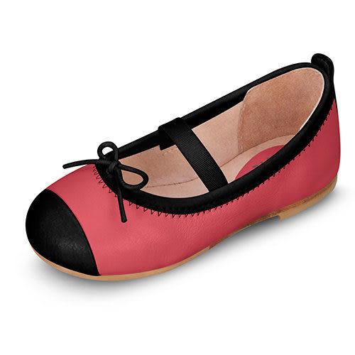 童鞋 / 娃娃鞋 澳洲Bloch芭蕾舞鞋 │黑邊蝴蝶結芭蕾舞鞋-桃紅 #BT1240 TLP