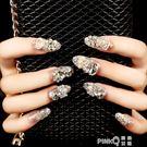雨奈 新娘指尖魔盒可穿戴甲美甲指甲貼片成品可拆卸全貼假指甲片   (PINKQ)