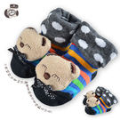 貝柔寶寶手縫公仔鞋型止滑襪(0~18個月)-微笑熊