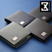 74盎司 皮夾 Cross 十字紋真皮橫式短夾(零錢袋)[N-552-Cr]