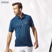 【ST.MALO】台灣製POLO衫高機能咖啡紗男POLO衫-1814MP-深湖藍