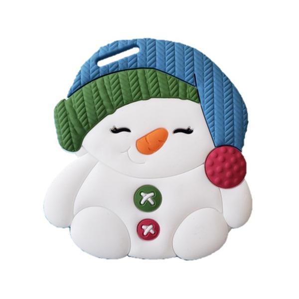 【愛吾兒】美國 SiLLi CHeWS  胖胖雪人咬牙器  固齒器 美國設計 3個月以上適用
