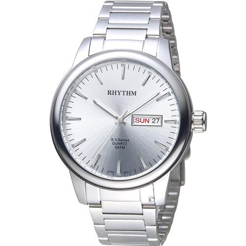 GS1605S01   寶時鐘錶 日本麗聲錶 RHYTHM 沈穩內斂品味紳士錶