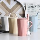 馬克杯 馬克杯帶蓋勺陶瓷杯可愛水杯女早餐韓版北歐少女杯子創意個性潮流