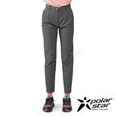 PolarStar 女 彈性合身長褲『暗灰』P21304 戶外 休閒 登山 露營 運動褲 釣魚褲
