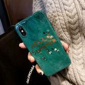 網紅iPhoneX手機殼帶掛繩同款祖母綠大理石蘋果7/8plus硅膠潮牌6S 一次元