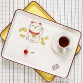 日式長方形飯店餐盤水杯茶托盤創意簡約家用果盤置物盤 町目家