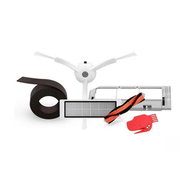 小米掃地機器人配件 適配小米石頭掃地機配件 主刷邊刷濾網主刷罩套裝磁條 6件套