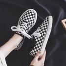 帆布鞋女學生2019新款春季正韓百搭ulzzang2020黑白格子布鞋板鞋 【Ifashion·全店免運】