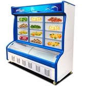 冷凍櫃 麻辣燙展示柜飯店點菜柜商用水果風幕保鮮柜冷藏冷凍立式冰箱冷柜 萬客居