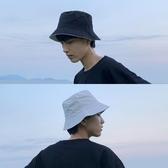 漁夫帽 帽子男潮牌雙面漁夫帽男青年盆帽正韓日系春夏時尚百搭純色遮陽帽