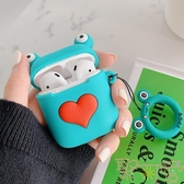 airpods保護套蘋果藍牙耳機盒子硅膠殼掛繩可愛【聚可愛】