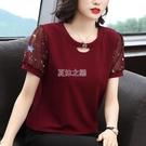 夏裝韓版大碼女裝短袖T恤女士雪紡上衣服寬鬆顯瘦短款小衫