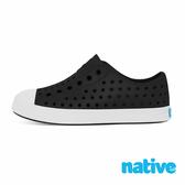 native 大童鞋 JEFFERSON 小奶油頭鞋-瞬黑x貝殼白