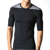 adidas TF BASE SS 男 黑 灰 訓練短袖上衣 排汗 透氣 合身 緊身衣 健身 D82011