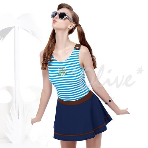 ☆小薇的店☆MIT聖手品牌亮眼海洋風時尚連身裙泳裝特價1340元 NO.A98631(S-XL)