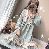 日系可愛日常洋裝Lolita洛麗塔中長款連身裙【聚可愛】