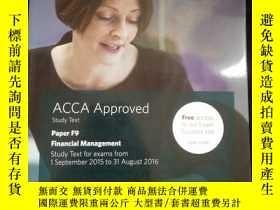 二手書博民逛書店ACCA罕見Approved Study Text Paper F9 Financial Management S