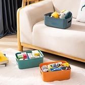 【BlueCat】莫蘭迪亮面色系長型收納盒 (大) 收納籃 塑膠盒 置物盒 書籍收納 衣物收納 廚房收納
