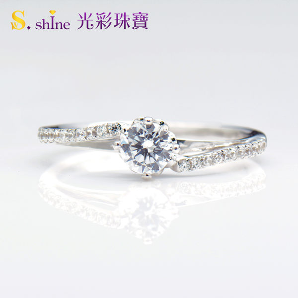 【光彩珠寶】鉑金鑽戒 浪漫愛