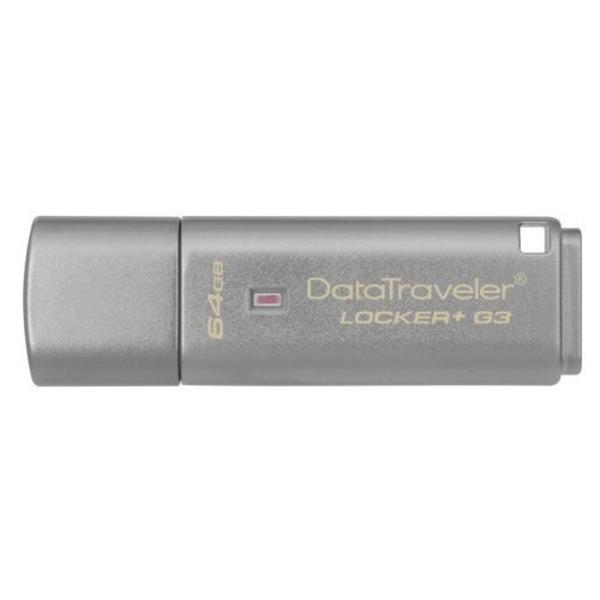 新風尚潮流 金士頓 【DTLPG3/64GB】 64G DataTraveler Locker+ G3 加密隨身碟 135MB/秒 安全保密 金屬外殼