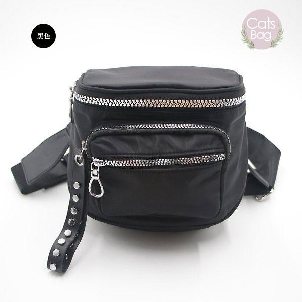 Catsbag 韓國設計質感防潑水迷彩純色斜背包 2941