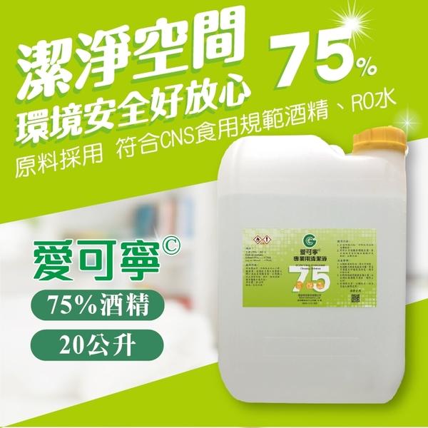 水蘋果【刷卡含稅】愛可寧 專業用75%清潔酒精20 L(公升)大容量補充