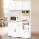 【森可家居】祖迪白色4尺石面碗碟櫃 (上+下) 10ZX646-2 餐櫃 收納廚房電器櫃 北歐風 MIT