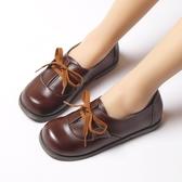 日系和風JK制服鞋平底大圓頭顯瘦蘿莉女仆學生娃娃鞋 居享優品